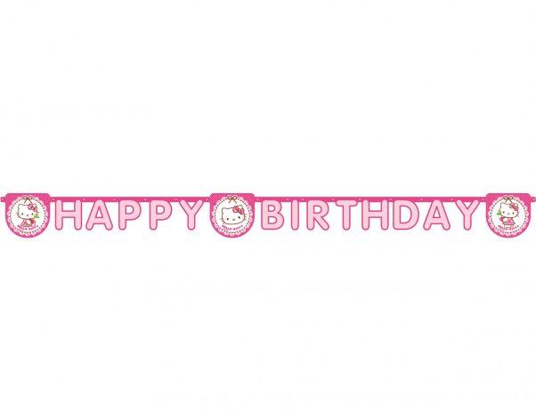 Photo du produit 1 Guirlande Happy Birthday Hello Kitty 2 m