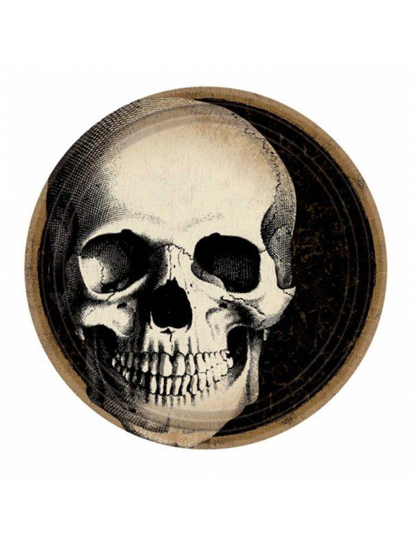 Photo du produit 10 Assiettes en carton Crâne d'Halloween 23 cm