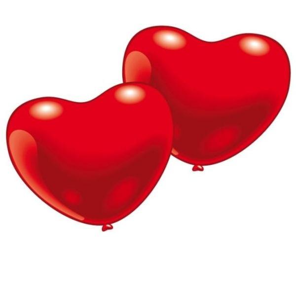 Photo du produit 10 Ballons coeur rouge