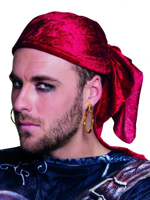 Photo du produit 2 Boucles d'oreilles dorées pirate adulte