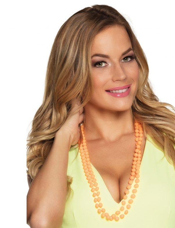 Photo du produit 2 Colliers perles orange adulte