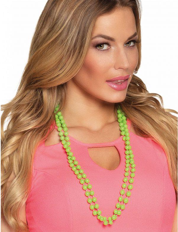 Photo du produit 2 Colliers perles vertes adulte
