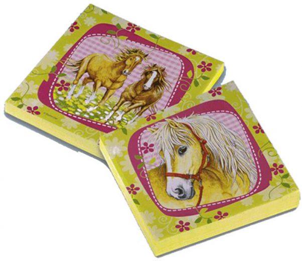 Photo du produit 20 Serviettes en papier Chevaux 33 x 33 cm