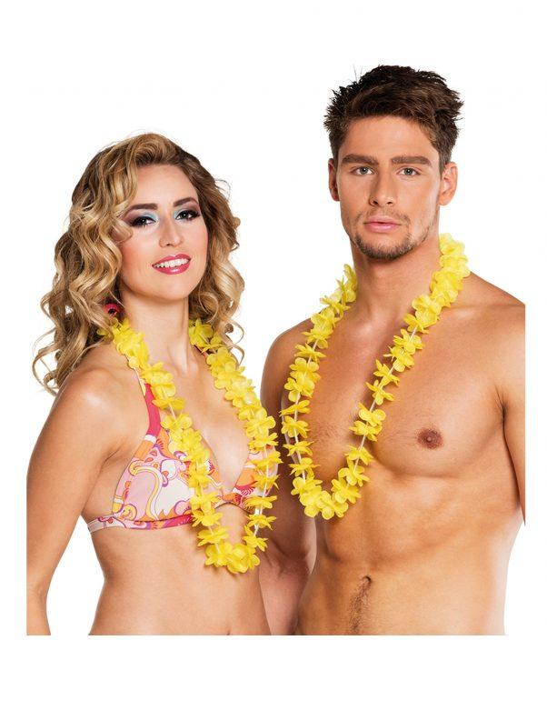 Photo du produit 25 Colliers Hawaï jaunes