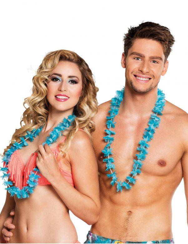 Photo du produit 25 Colliers Hawaï turquoises