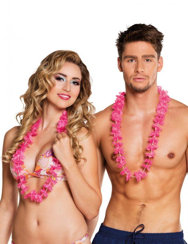 Photo du produit 25 Colliers Hawaï roses