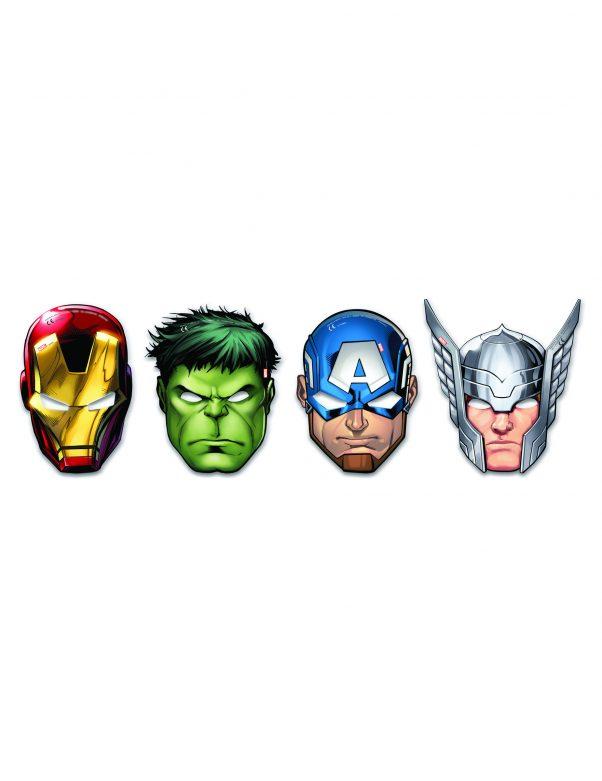 Photo du produit 6 masques en carton Avengers Mighty