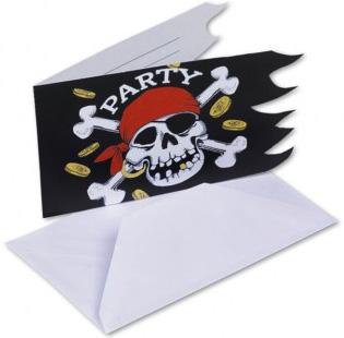 Photo du produit 6 Cartons d'invitation Pirate