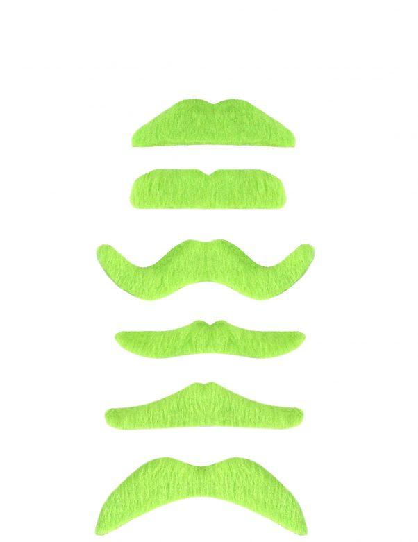 Photo du produit 1 Moustache vert fluo adulte