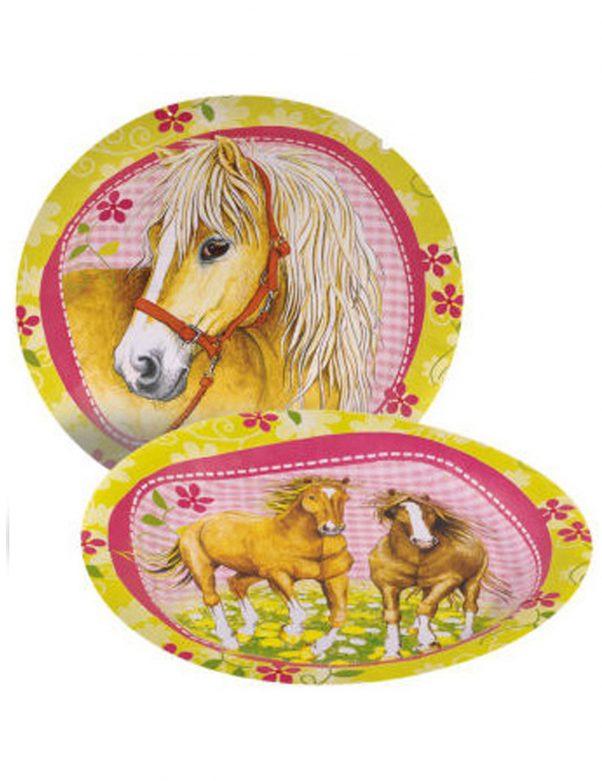 Photo du produit 8 Assiettes en carton Chevaux 23 cm