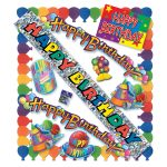 Photo du produit Pack De 6 Kits De 11 Decorations Anniversaire