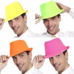 Photo du produit chapeau trilby adulte fluo en tissu coloris assortis