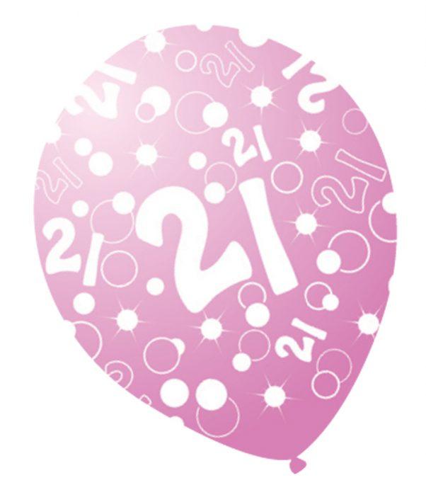 Photo du produit 6 Ballons âges nacrés rose