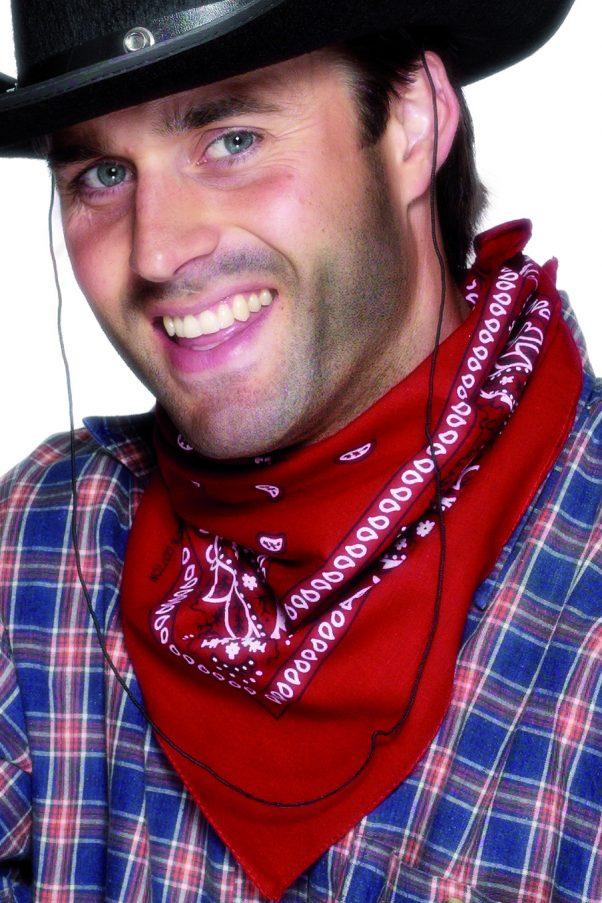 Photo du produit Bandana cowboy rouge