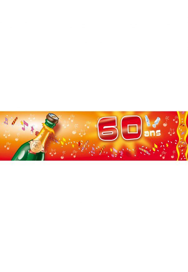 Photo du produit Bannière d'anniversaire 60 ans 70 ans 80 ans