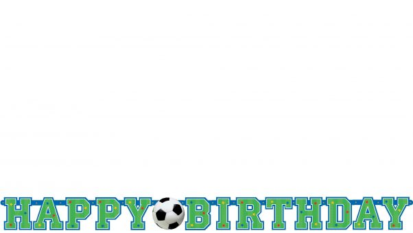 Photo du produit Bannière happy birthday ballon de football