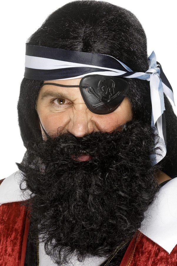 Photo du produit Barbe pirate noire adulte
