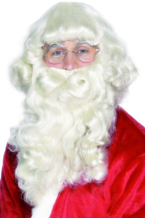 Photo du produit Barbe et perruque Père Noël adulte
