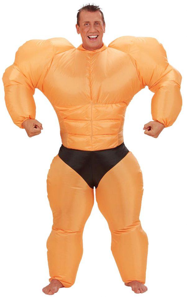 Photo du produit Déguisement humoristique bodybuilder gonflable adulte