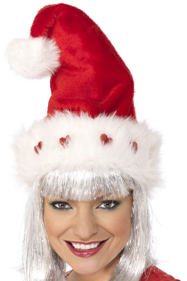 Photo du produit Bonnet luxe avec coeurs adulte Noël