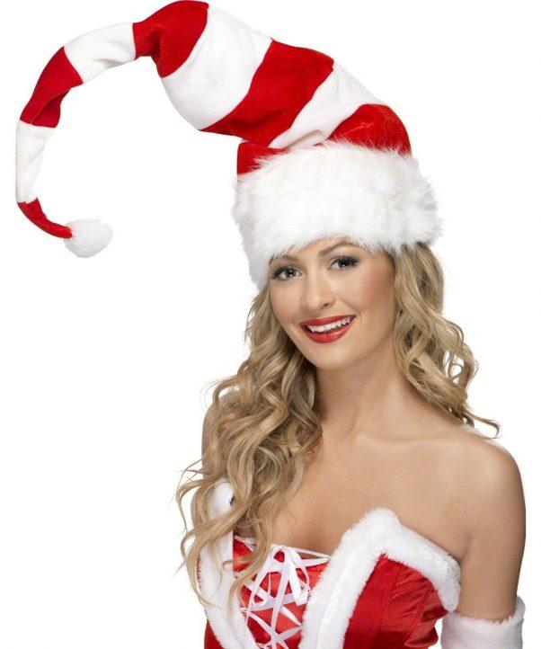 Photo du produit Bonnet rayé rouge et blanc adulte Noël