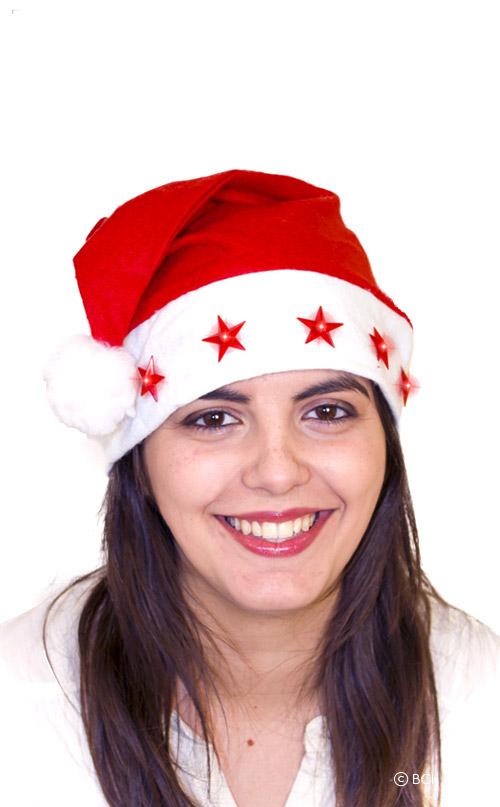 Photo du produit Bonnet lumineux Père Noël