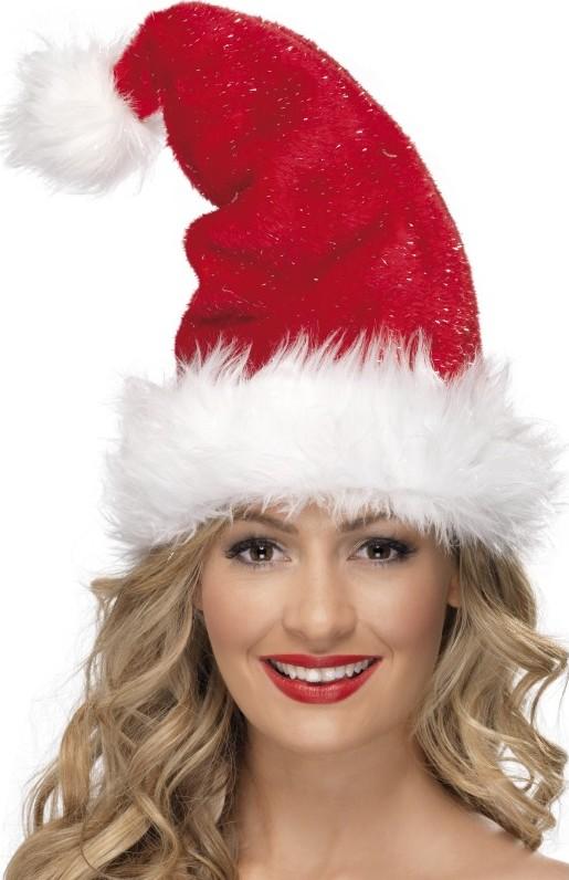 Photo du produit Bonnet rouge scintillant adulte Noël