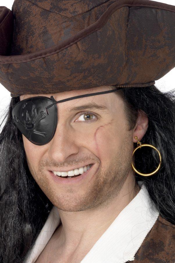 Photo du produit Boucle d'oreille et cache oeil pirate adulte