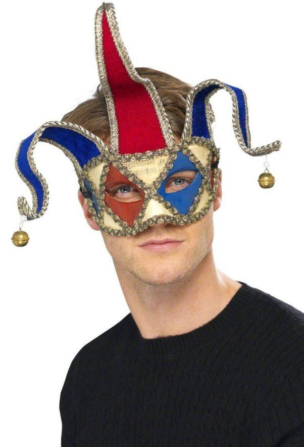 Photo du produit Loup vénitien clown arlequin adulte