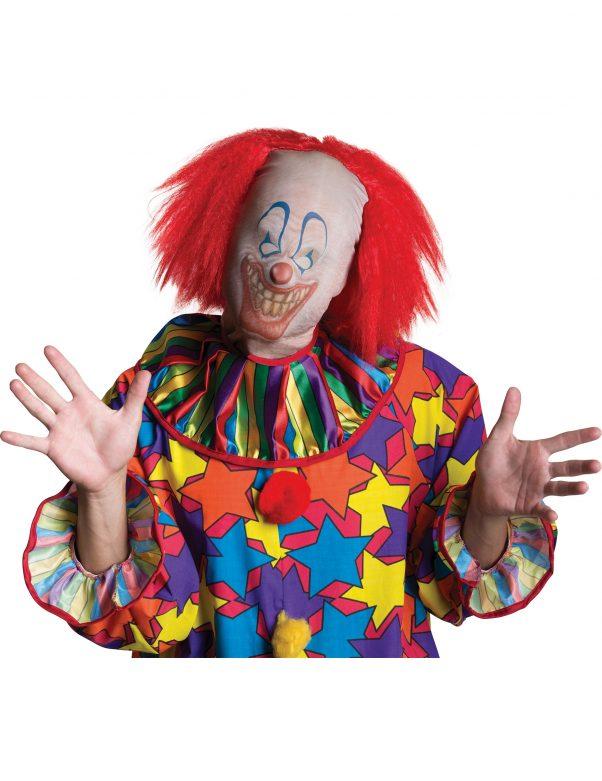 Photo du produit Cagoule clown avec cheveux adulte Halloween