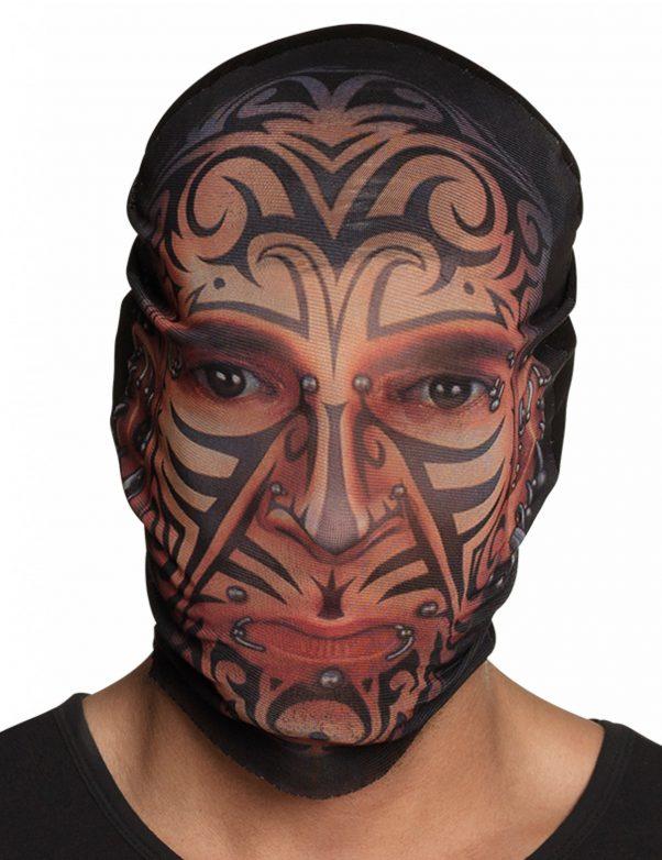 Photo du produit Cagoule collants tatouages adulte
