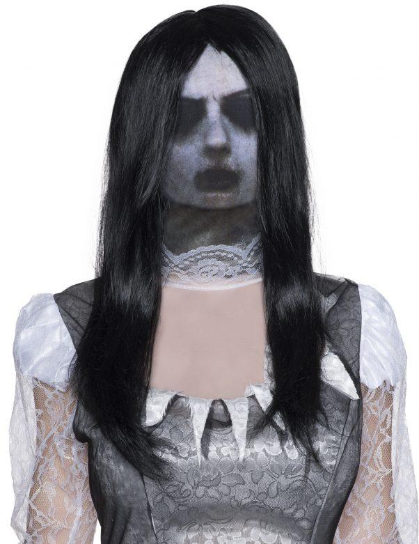 Photo du produit Cagoule fantôme avec Perruque adulte Halloween