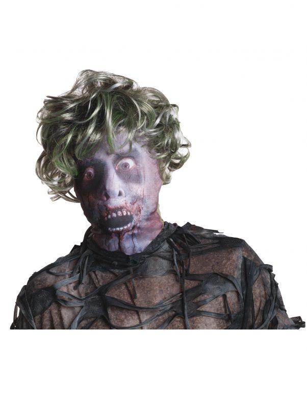 Photo du produit Cagoule zombie avec perruque adulte Halloween