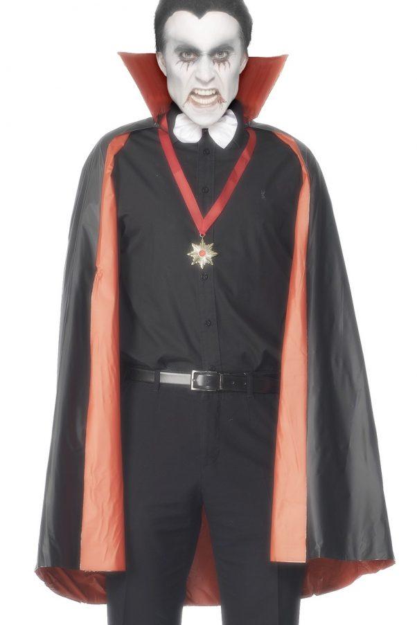 Photo du produit Cape réversible vampire rouge ou noire homme Halloween