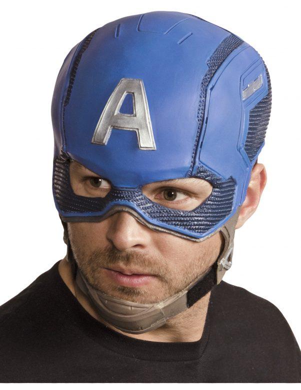 Photo du produit Casque en latex Captain America Avengers adulte