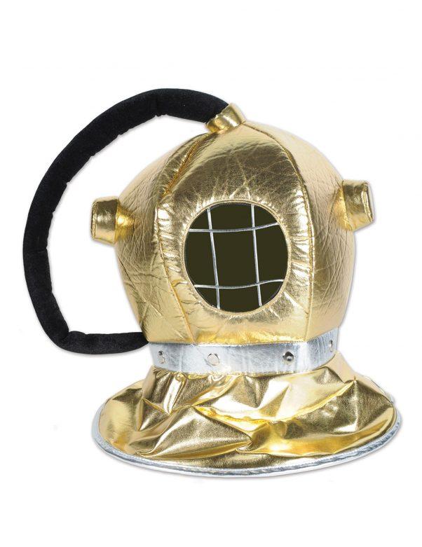 Photo du produit Casque de plongeur en tissu doré