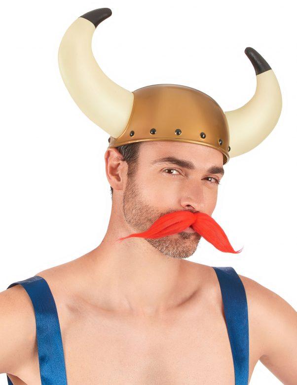 Photo du produit Casque Viking à cornes bicolores adulte