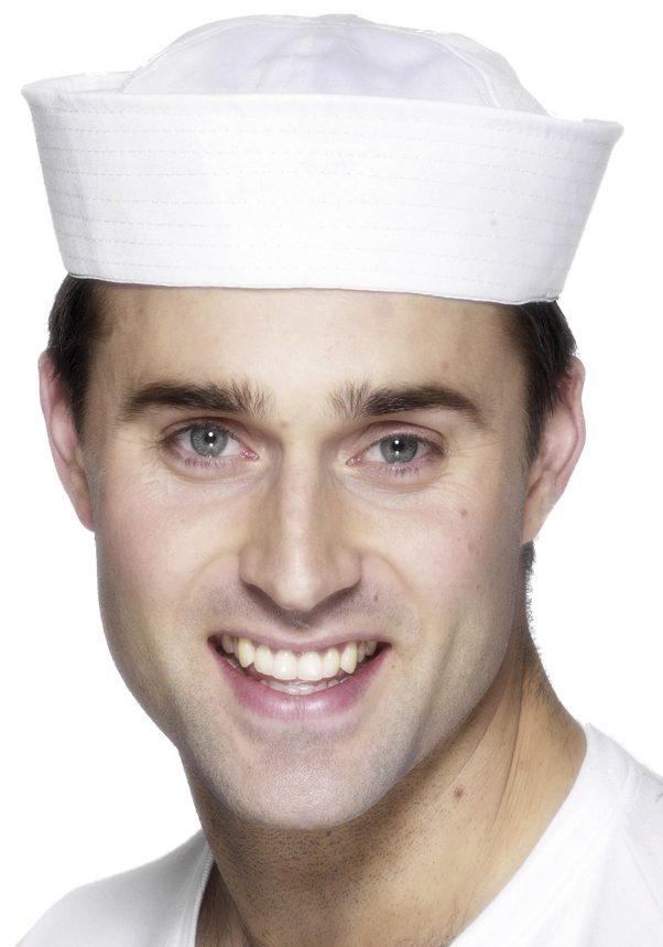 Photo du produit Chapeau marin blanc adulte