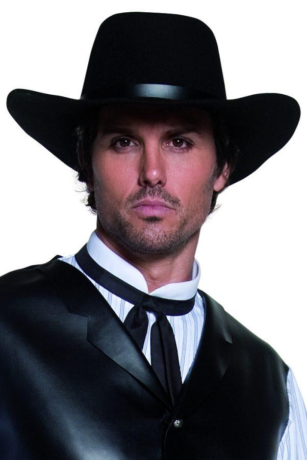 Photo du produit Chapeau de cowboy noir luxe adulte