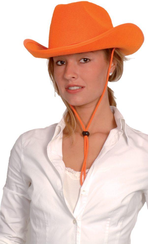 Photo du produit Chapeau cowboy orange adulte