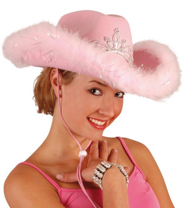 Photo du produit Chapeau cowgirl rose femme