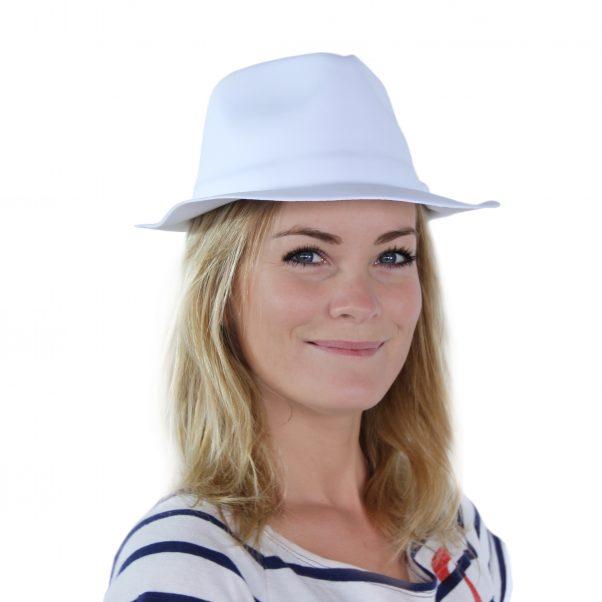 Photo du produit Chapeau de gangster blanc adulte