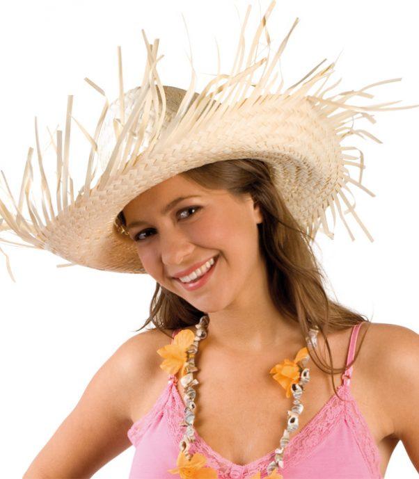 Photo du produit Chapeau de paille tressée Hawaï adulte