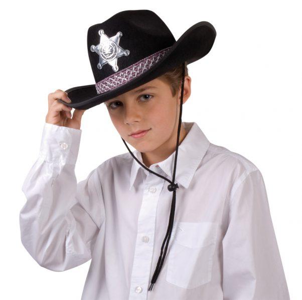 Photo du produit Chapeau shérif noir garçon