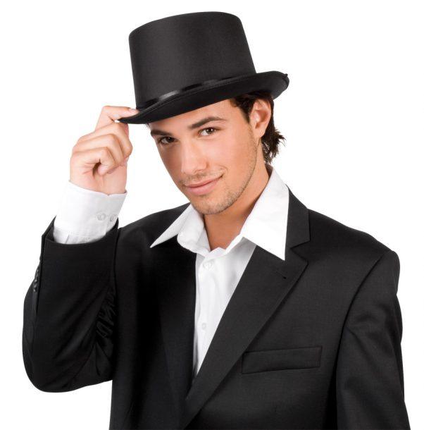 Photo du produit Chapeau haut de forme de gala noir adulte