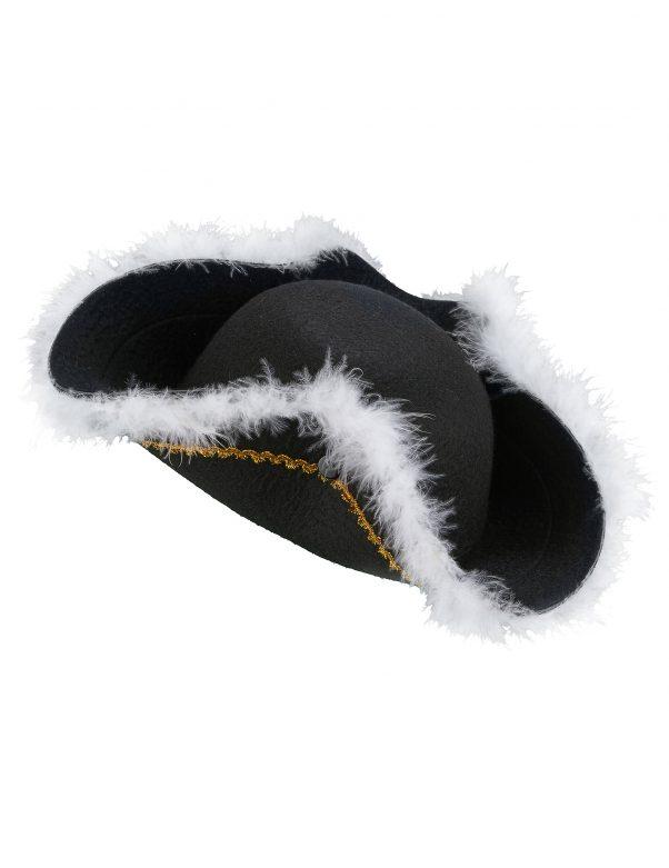 Photo du produit Chapeau pirate à plumettes adulte