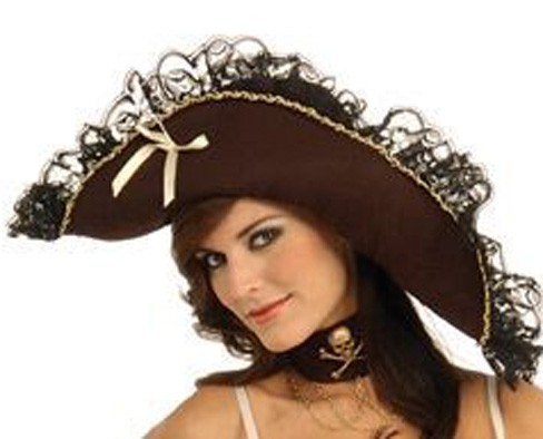 Photo du produit Chapeau Pirate femme marron