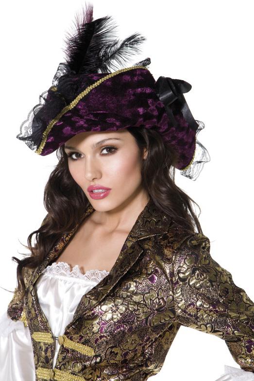Photo du produit Chapeau violet pirate femme
