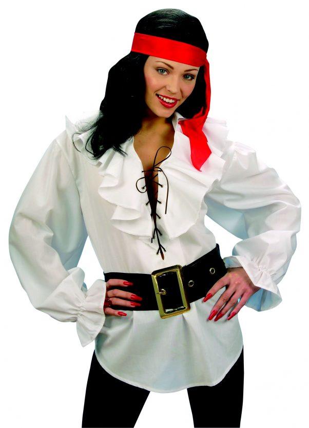Photo du produit Chemise blanche pirate femme