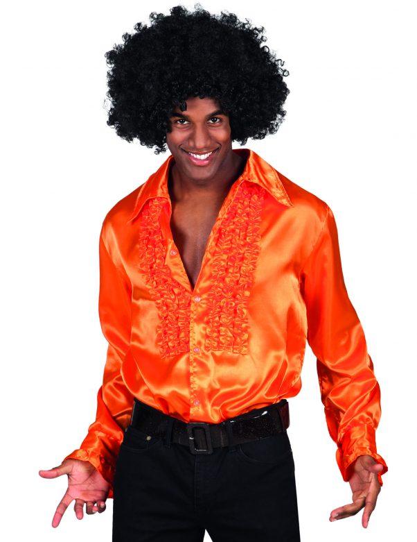Photo du produit Chemise disco orange homme